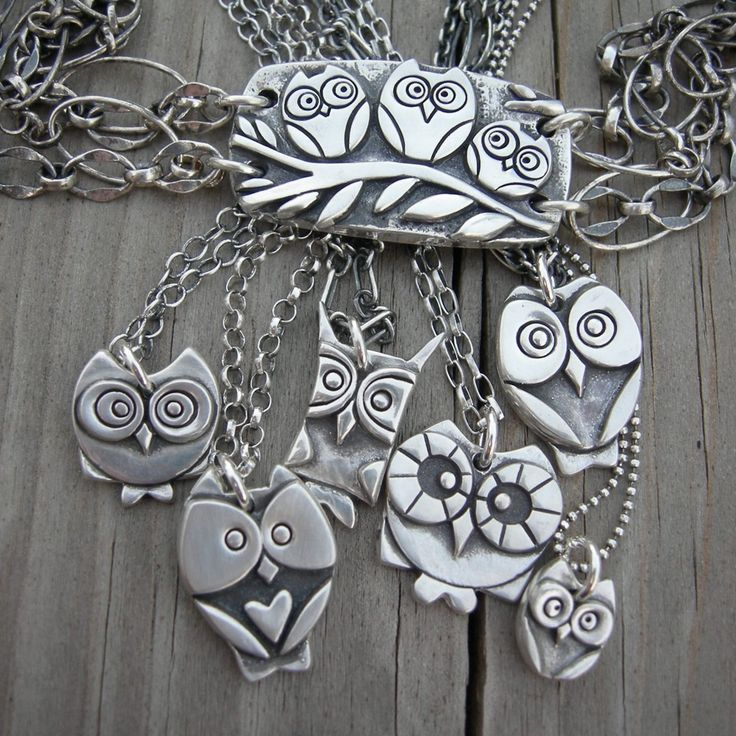 Sterling silver owl pendants - MADE TO ORDER