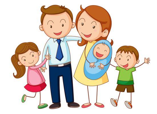 Co Je Te Presente Ma Famille Famille De 5 Famille Clipart