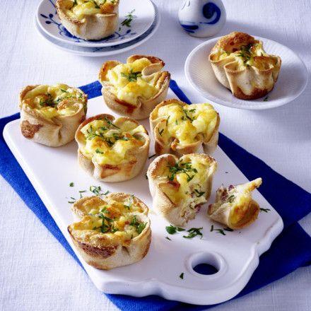 Toastmuffins mit Käse-Schinken-Füllung Rezept