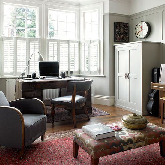 Home office | Edwardian home in London | House tour | PHOTO GALLERY | 25 Beautiful Homes | Housetohome.co.uk
