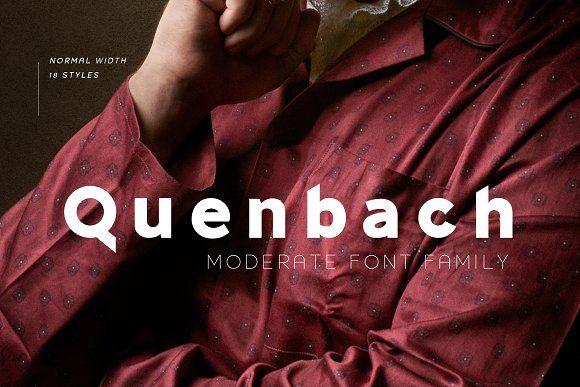 Quenbach Font Family In 2020 Font Family Best Sans Serif Fonts Geometric Font