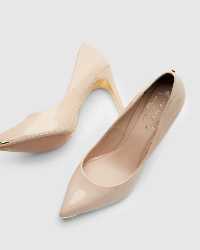 Pointed leather court shoe - Nude Pink | Footwear | Ted Baker UK