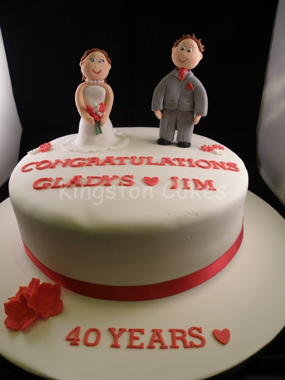 14 Best Wedding Anniversary Cake Toppers Images On Pinterest - Ruby Wedding Cake Toppers