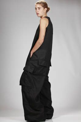 wide and very long dungarees in silk and wool gauze - RICK OWENS