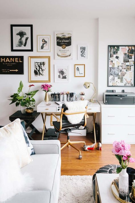 how to include a desk area in your living room