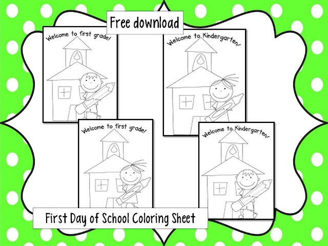 Free Printable First Day Of School Coloring Pages For Kindergarten : 159 best theme: back to school images on pinterest
