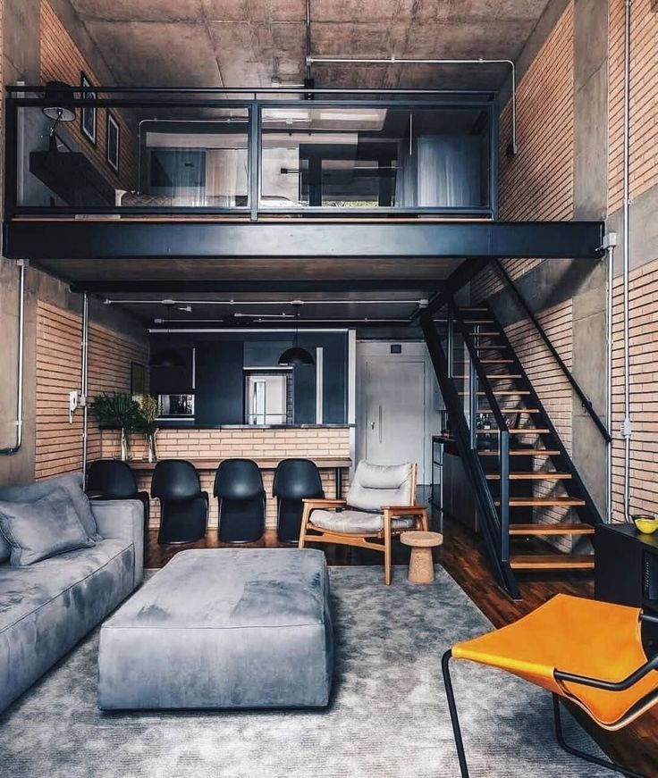 N Industrial Loft Design Was Meant For An Artist And It Combines The Best Of Both Worlds A Living Area Loft Interior Design Loft Interiors Minimalism Interior