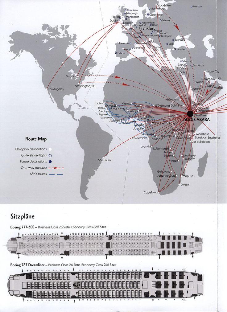 https://flic.kr/p/QyLe4s   Ethiopian Airlines verbindet die Welt mit Afrika; 2016_5, seatplan, route map