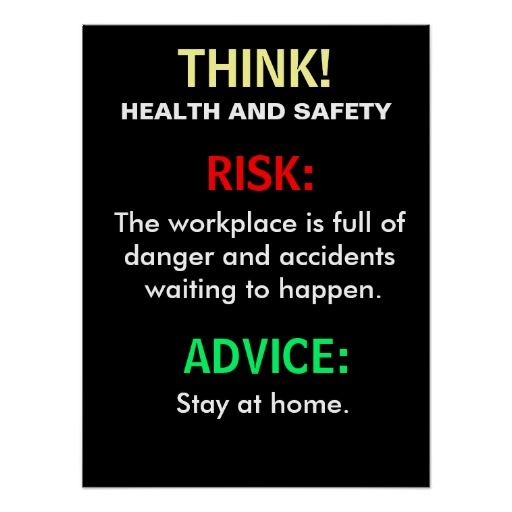 Funny Health and Safety Advice and Office Sign Print