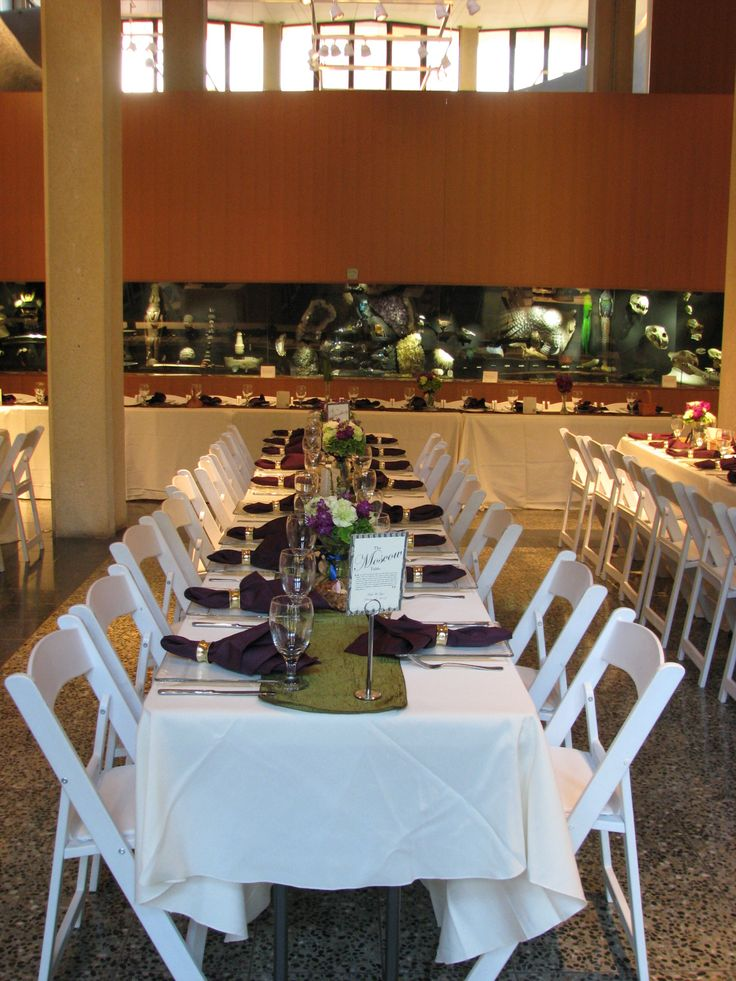 A wedding set up at the Burke Museum of Natural History and Culture on the University of Washington campus in Seattle. Join us this Sunday, June 30, from  noon - 3 pm for a Campus Wedding and Special Events Fair!