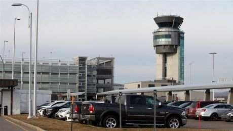 A small drone collided with a passenger airplane above Jean Lesage airport in Quebec City on Thursday, but the plane was able to land safely.