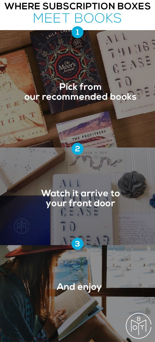 It's book shopping made easy. With Book of the Month's subscription box, the constant search for a great, new books is over. No more searching through comments and ratings - our judges do all that for you! Find your next favorite book today.