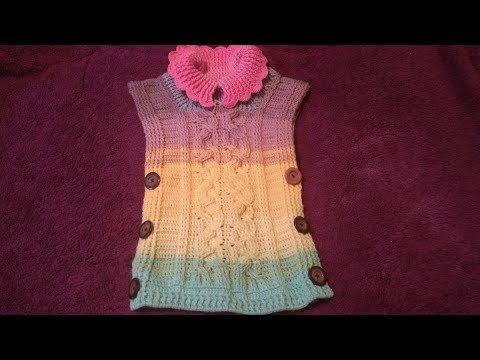 Poncho a crochet paso a paso parte #1