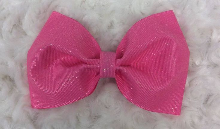 Glitter Pink Tuxedo Hair Bow, Tuxedo Bow, Tuxedo Hair Bow, Tailless Cheer Bow, Cheer Hair Bow, Pink Hair Bow, Pink Hair Clip, Pink Hair Barrette, Pink Hair Ribbons