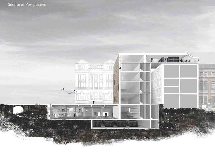Building Underground Architecture Elevation Google Search Collage Pinterest