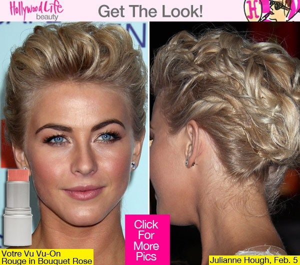 Julianne Hough 'Safe Haven' Premiere Beauty — Edgy Updo & Natural Makeup