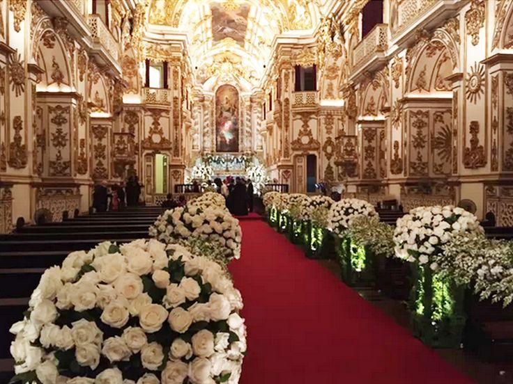 casamento preta gil - decoracao igreja