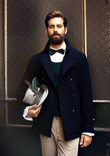 mode hommes : dandy, barbe
