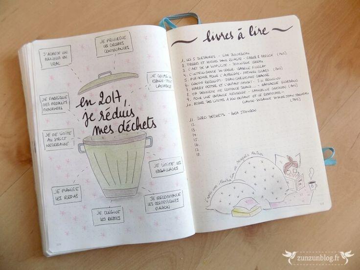 Bullet Journal 2017 Zero déchets / Livres à lire
