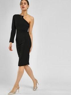 a0eeb6f5314 Ax Paris One Shoulder Bodycon Dress