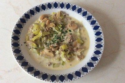 Champignon - Porree ( Lauch ) - Käse - Curry - Suppe