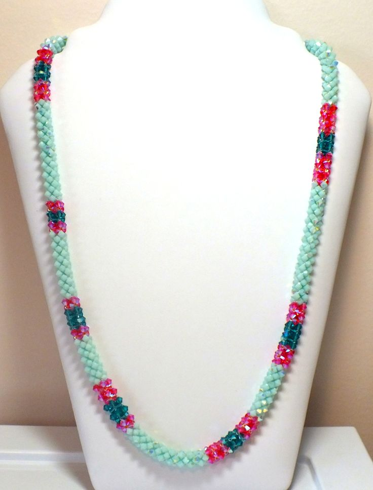 Swarovski Beaded Necklace:)   www.etsy.com/shop/kaczdesigns