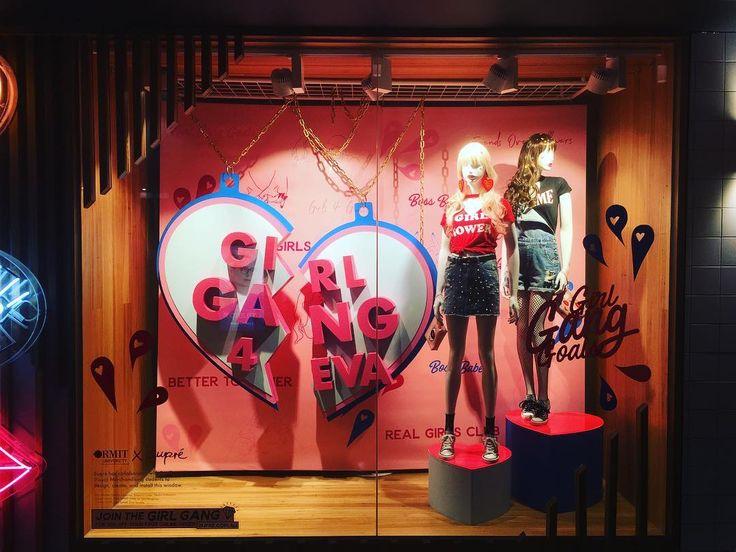 "SUPRE, Melbourne Central, Victoria, Australia, ""Girl Gang 4 Eva..."", creative by RMIT Visual Merchandising students, pinned by Ton van der Veer"