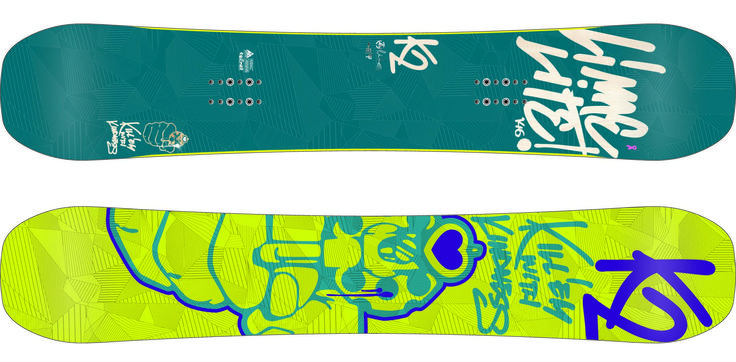 Tabla snowboard Lime Lite de K2 nieve snow montaña moutain