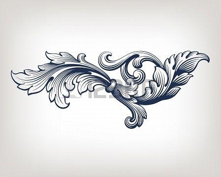 20466313-vintage-baroque-scroll-design-frame-pattern-element-engraving-retro-style.jpg 450×360 pixels