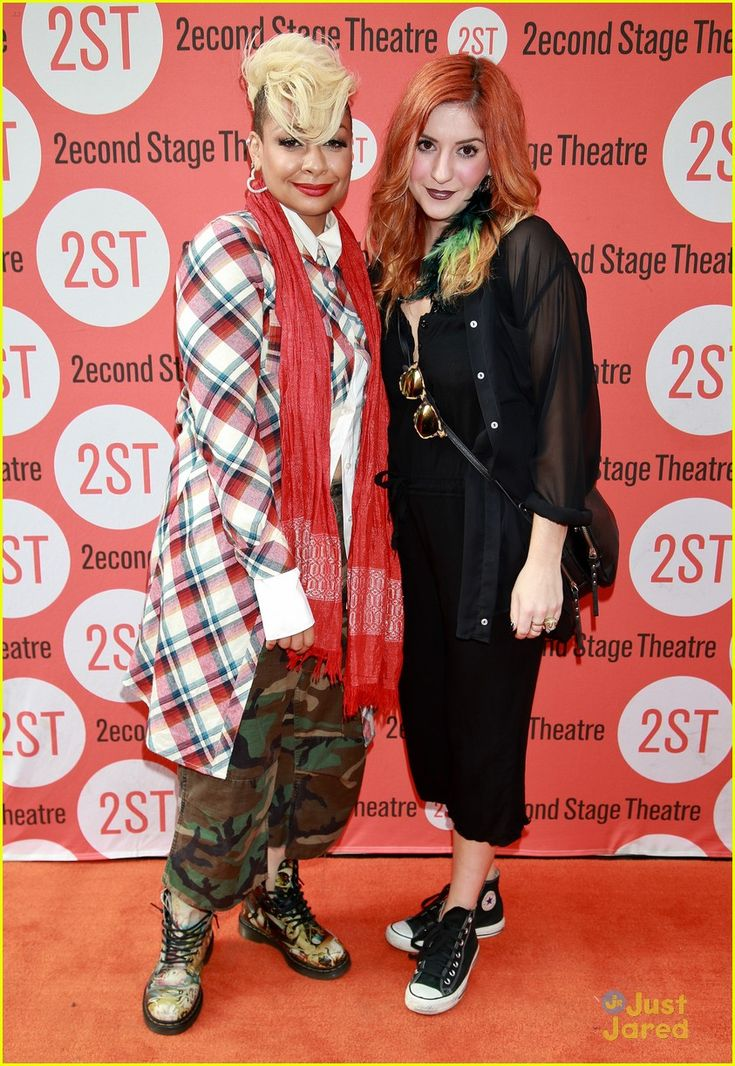 Raven Symone and Anneliese van der Pol on the red carpet for opening night of The Way We Get By at the Second Stage