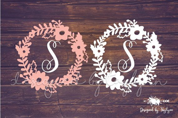 Flower Border Decal Floral Decal Flower Decal by DesignedByTaylynn