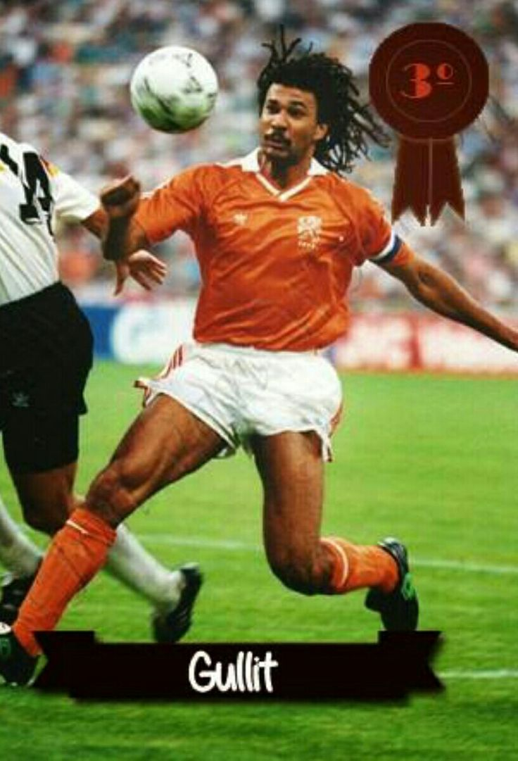 Ruud Gullit of Holland in action at the 1990 World Cup Finals.