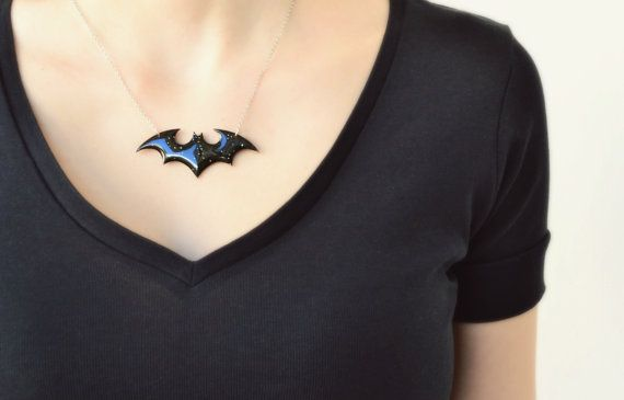 Batman The Dark Knight Necklace Comic Marvel by HardResols