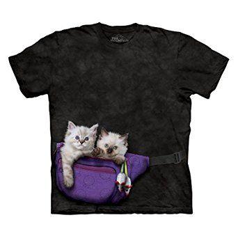 The Mountain Men's Fanny Pack Kittens T-Shirt Black S