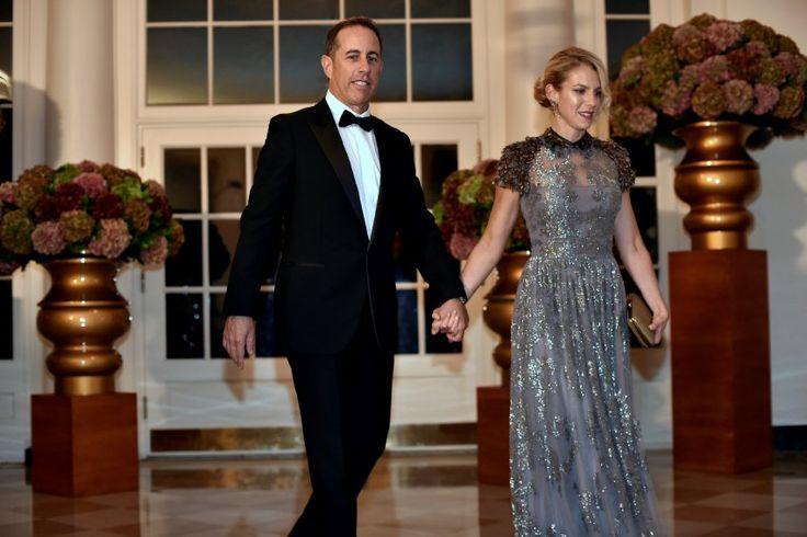 ...und Komiker Jerry Seinfeld, der von seiner Frau Jessica begleitet wurde.