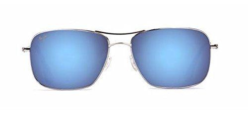 Maui Jim Wiki Wiki Sunglasses Silver / Blue Hawaii