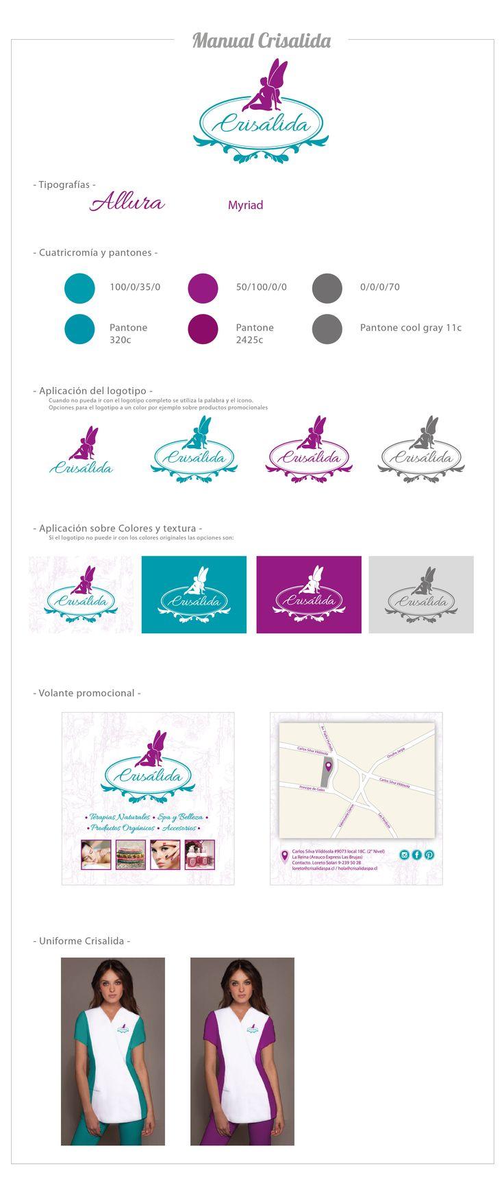 Logotipo y manual de marca. Cliente. Crisalida Diseñado por Kata Melgarejo Bahamondes
