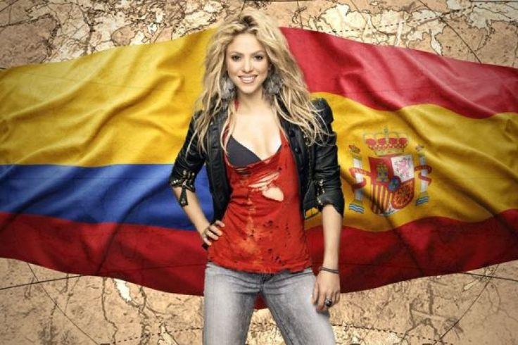 Shakira entre la Selección Colombia y la de España