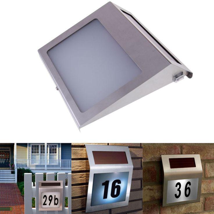 Lámpara de Luz Solar Placa de puerta, que funciona con la Luz Led de La Lámpara Cartelera de Número, Número de Apartamento Luz Solar Al Aire Libre iluminación