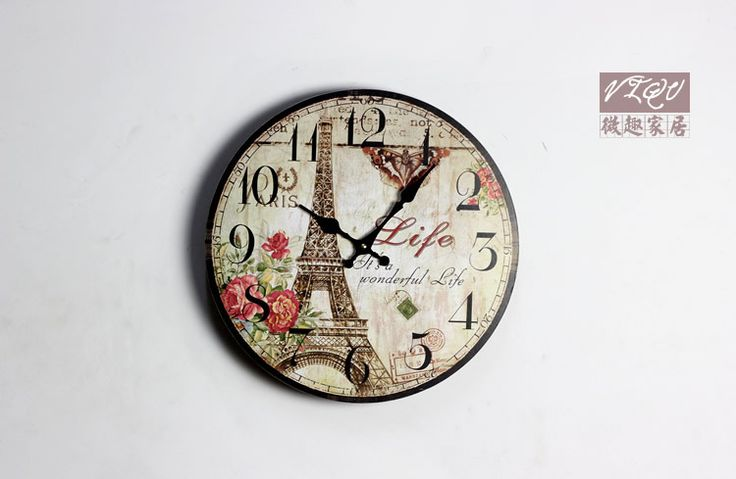 Top Quality Gift Craft New Designed High Quality Vintage Rustic Wall Clock Shabby Chic Home Office Coffeeshop Bar Decoration