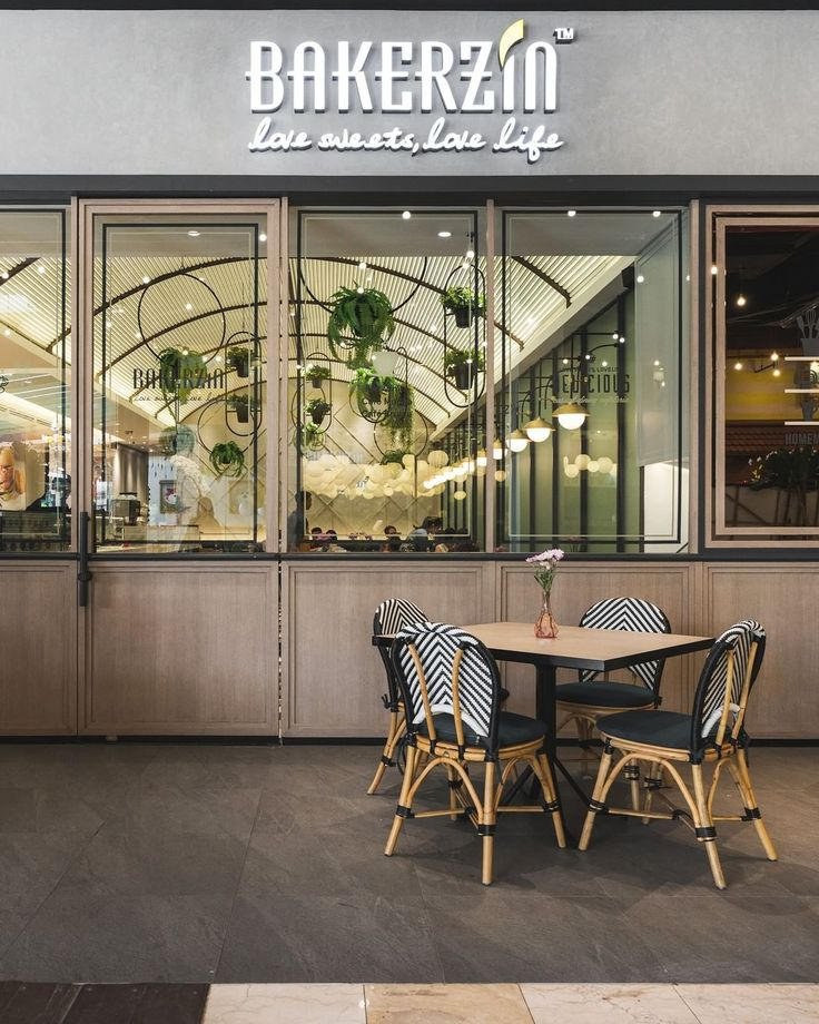 Homey, that's what patisserie or bakery image is. Wooden seats and neutral colour tones create a comfortable setting for visitors in this restaurant.