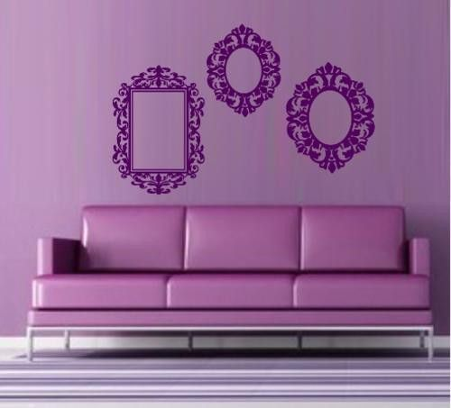 VINYL DECAL ORNATE FRAMES WALL ART STICKERS