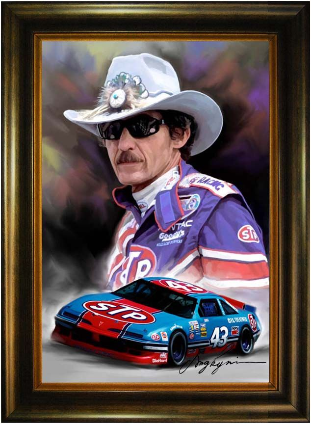 Image detail for -Richard Petty Nascar Portrait Art Oil Painting : Oil Painting|Oil ...