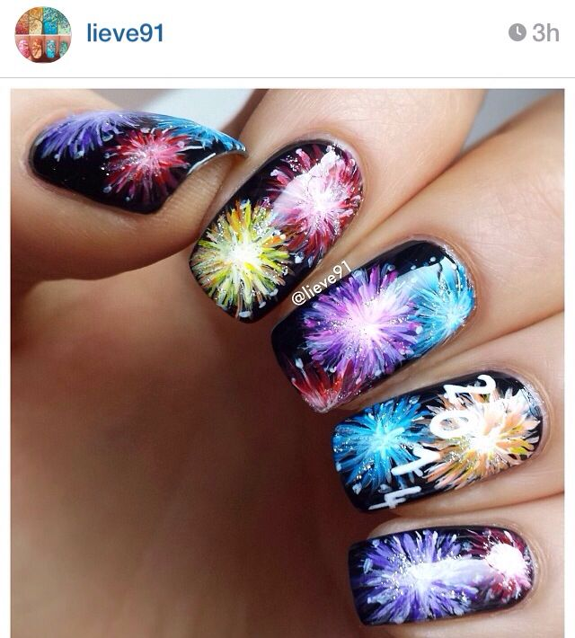 New Years fireworks nails - 14 Best Firework Nails Images On Pinterest Nail Scissors, Firework