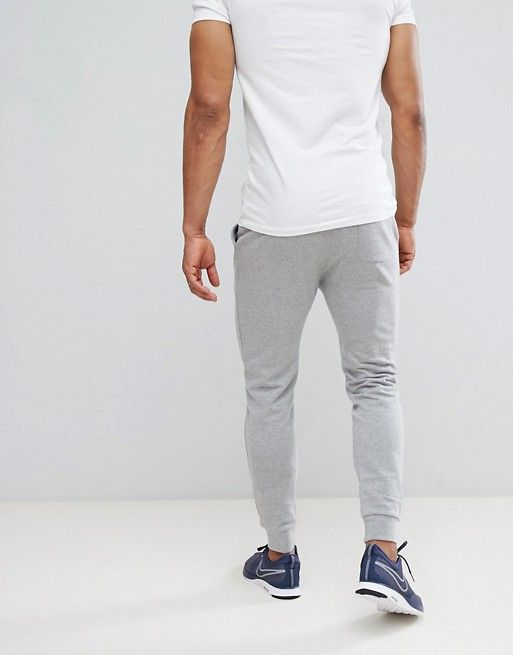 1d4878a1 DESIGN skinny sweatpants in gray marl in 2019 | Mens fashion | Grey ...