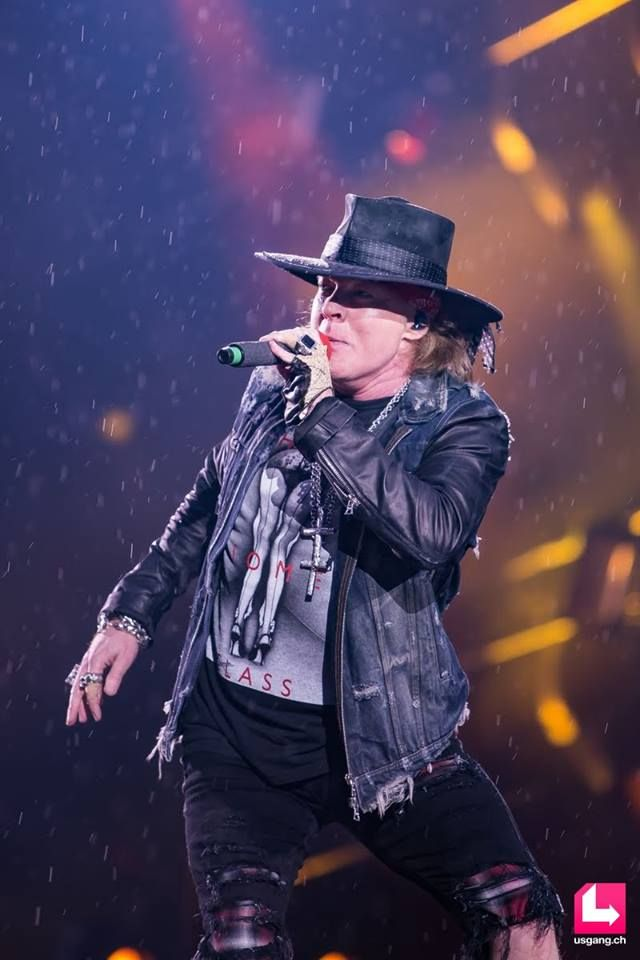 May 2016 - Axl Rose performs with AC/DC, Rock or Bust Tour