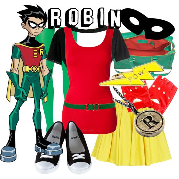"""""""Robin from Teen Titans"""" by likeghostsinthesnow on Polyvore"""