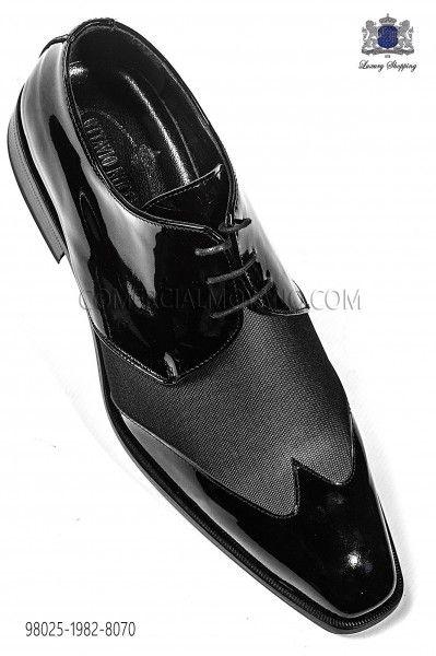 Zapatos gris de charol negro combinado 98025-1982-8070 Ottavio Nuccio Gala.
