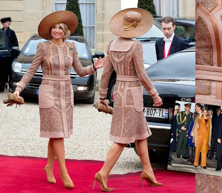 Koningin Máxima pakt uit tijdens het staatsbezoek in Frankrijk. Uit haar garderobe! (Lees verder…)