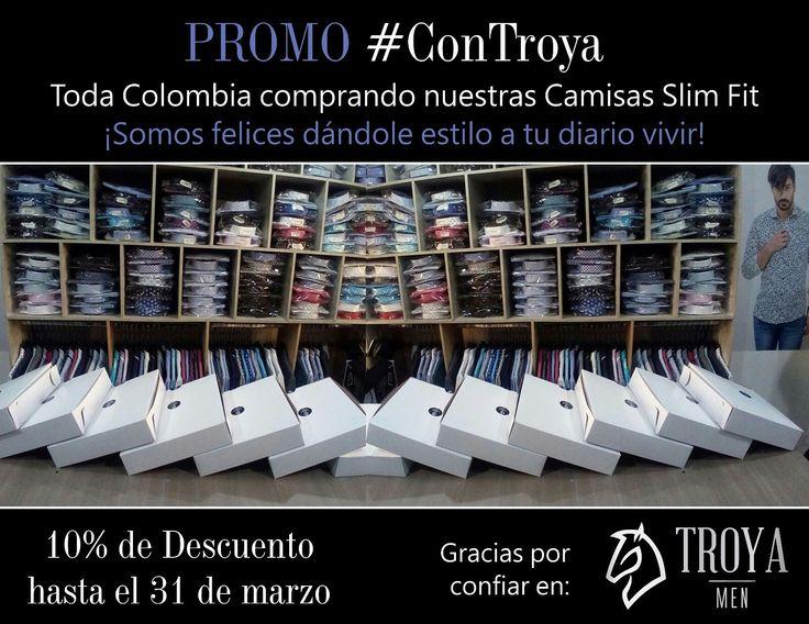 #FelizDia  no hay duda, Colombia se enamoró de las #CamisasSlimFit Troya Men, seguimos enviando muchos pedidos en Bogotá y a diferentes regiones del país. Quedan sólo 2 días de la #promoción #ConTroya por $53.900 ¡Somos felices dando estilo a tu diario vivir! Cel-WhatsApp: 3108879142 #Hombres #ModaMasculina #Colombia